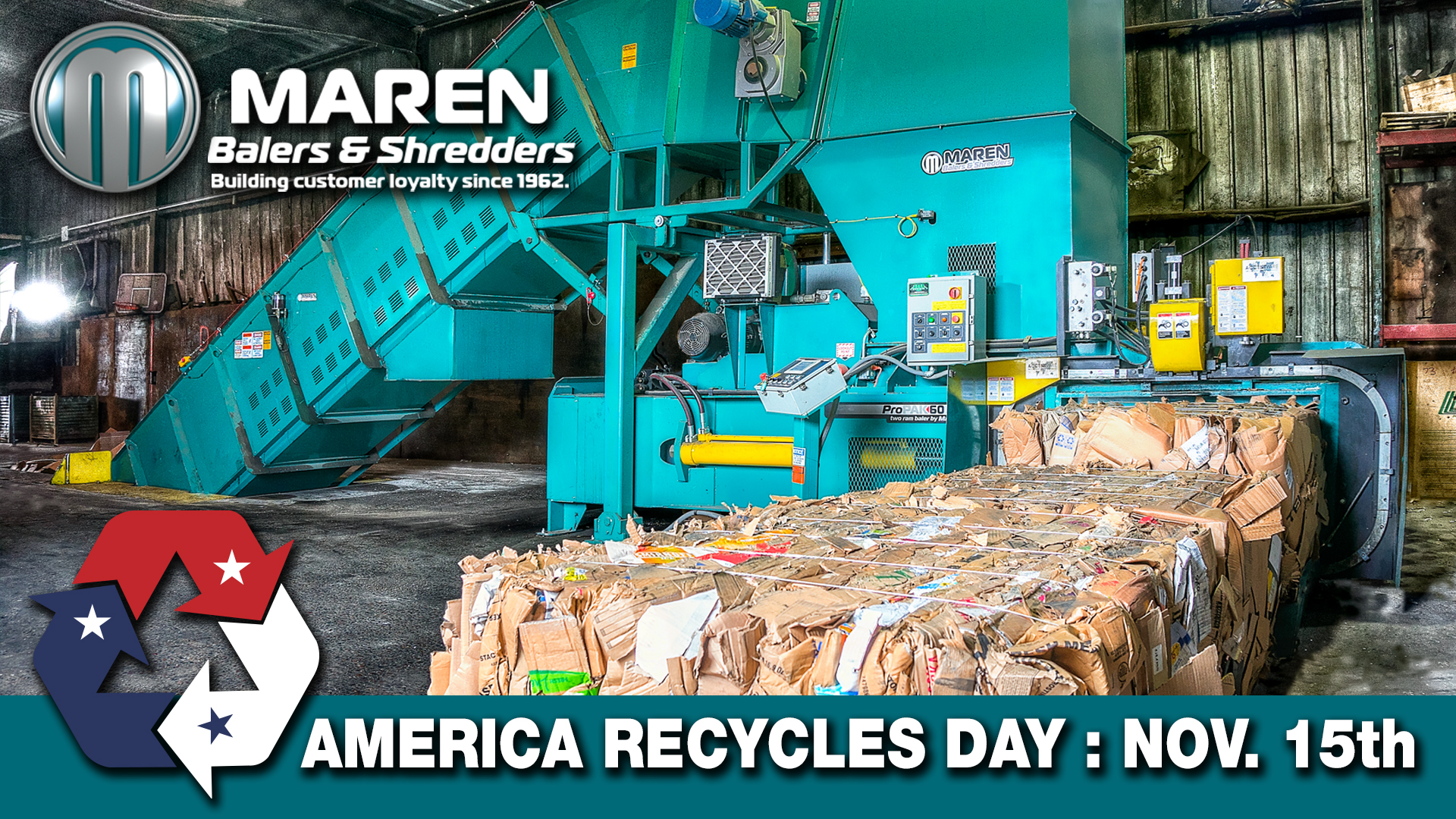 America Recycles Day - Maren Balers & Shredders